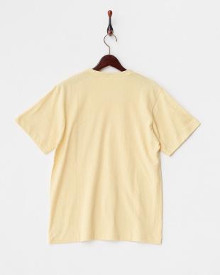 イエロー  メランジクルーポケットTシャツ見る