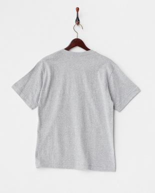 グレー  メランジVネックTシャツ見る