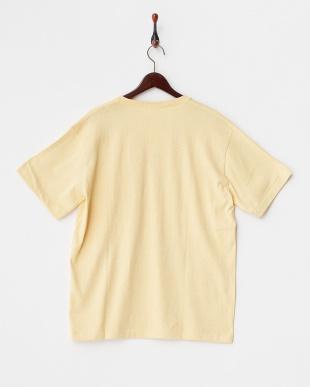 イエロー  メランジVネックTシャツ見る
