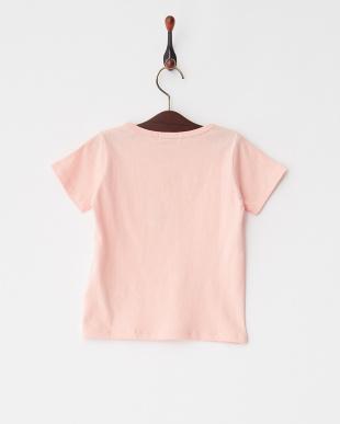Pink  シンプルクルーネック半袖Tシャツ見る