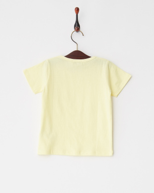 Light Yellow  シンプルクルーネック半袖Tシャツ見る