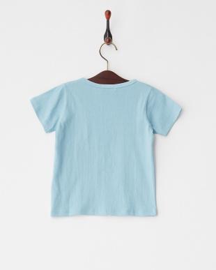 Light Blue  シンプルクルーネック半袖Tシャツ見る