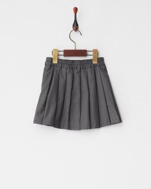 Gray Mixture  ムジプリーツスカート見る