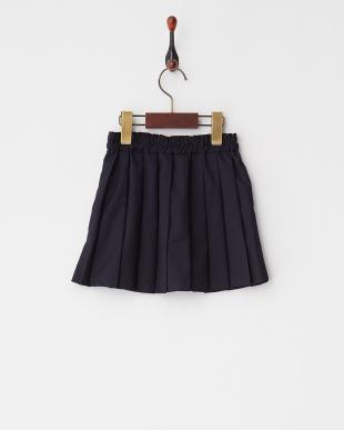 Navy  ムジプリーツスカート見る