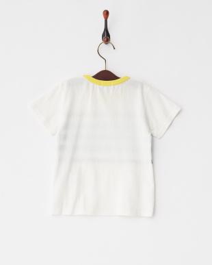 Off White  パネルプリントボーダー半袖Tシャツ見る