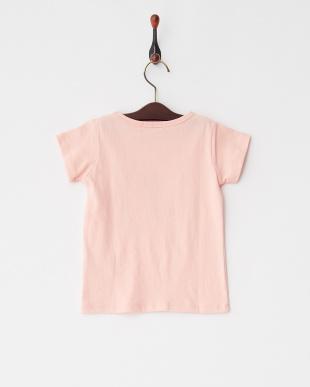 Pink バタフライ半袖Tシャツ見る