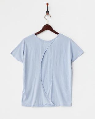 ライトブルー  バックオープン スラブTシャツ見る