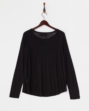 ブラック×ホワイト  ラグランスリーブ スラブTシャツ見る