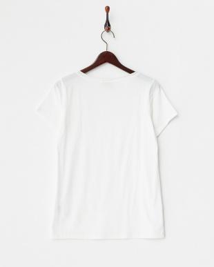 ホワイト  シルクネック Tシャツ見る