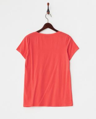 オレンジ  シルクネック Tシャツ見る