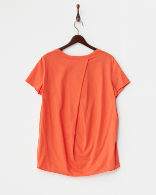 オレンジ  カットオフTシャツ見る