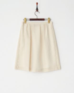 ホワイト×ゴールド  ヴィンテージドビースカート見る