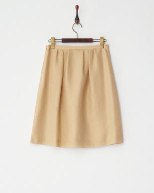 ブラウン×ゴールド  ヴィンテージドビースカート見る