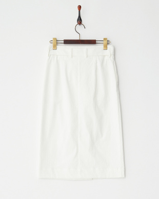 ホワイト ラップ風ミディスカート見る