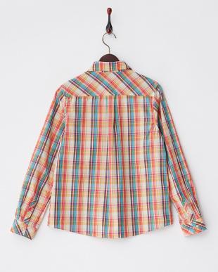 オレンジ系  チェックシャツ見る