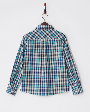 ブルー系  チェックシャツ見る