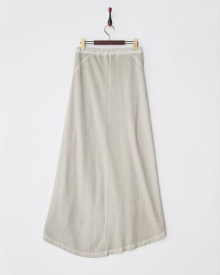 ライトグレー 製品染めロングスカート見る