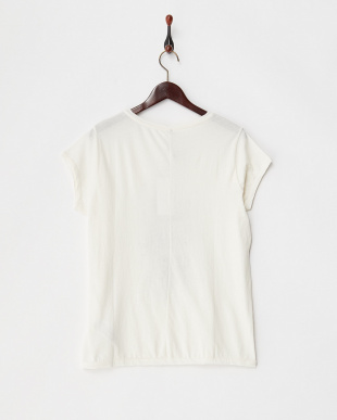 ホワイト ロゴ&箔プリントTシャツ見る