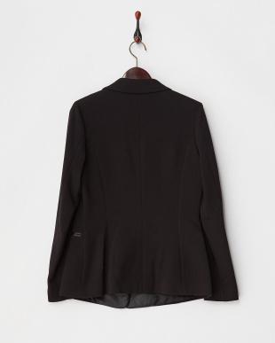 ブラック 異素材使い1Bジャケット見る