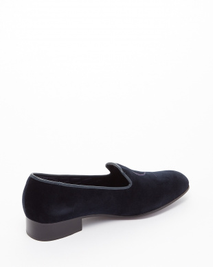 NAVY  EXCLUSIVE C/Velvet Pumps ロゴ刺しゅう見る