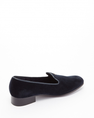 NAVY  EXCLUSIVE C/Velvet Pumps ゴールドボタン見る
