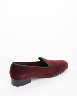 BORDEAUX  EXCLUSIVE C/Velvet Pumps ゴールドボタン見る