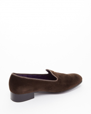 BROWN  EXCLUSIVE C/Velvet Pumps ゴールドボタン見る