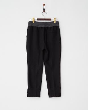 BLACK  EXCLUSIVE W/J Doubleface Trousers見る