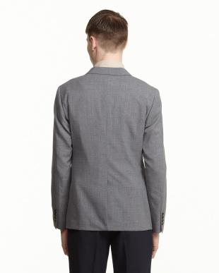 グレー COOLMAX 紡毛3つボタンジャケット見る