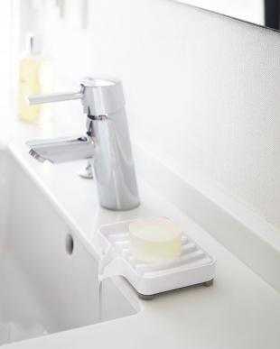 ホワイト 水が流れるソープトレー ミスト見る