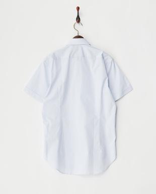SAX  マイクロチェックワイドカラー半袖シャツ見る