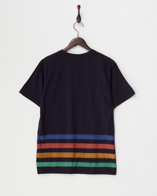 NAVY GK.RAINBOW BDR Tシャツ見る