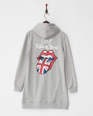 GRAY  ロングパーカー I love stones|WOMEN見る