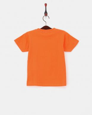 オレンジ  配色プリントTシャツ|KIDS見る