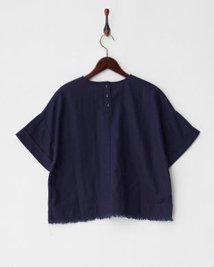 Navy 綿麻BIGポケットシャツ見る