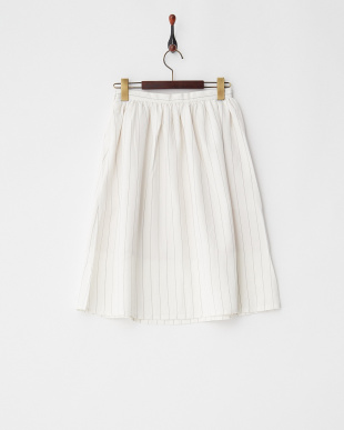 Off White  ピンストライプギャザースカート見る
