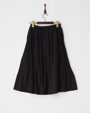 Black ランダムプリーツスカート見る