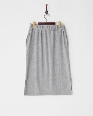 Light Gray Mixture  フクレジャガードタイトスカート見る