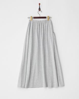 Light Gray Mixture カットソーマキシスカート見る