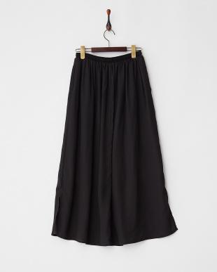 Black  チリメンマキシ丈スリットスカート見る