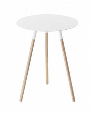 ホワイト サイドテーブル プレーン見る
