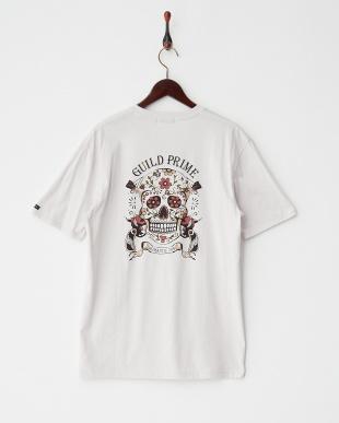 グレー  メキシカンスカルSATISFACTION Tシャツ見る