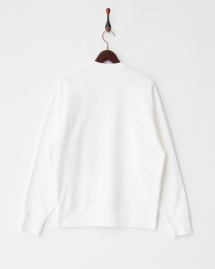 ホワイト STRIPPERS プリントスウェットシャツ見る