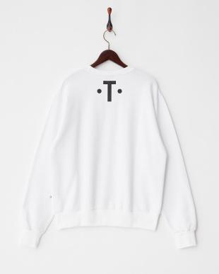 ホワイト Kurt Cobain プリントスウェットシャツ見る