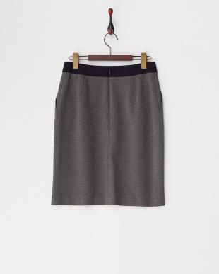 GRAY  バイカラーカットタイトスカート見る