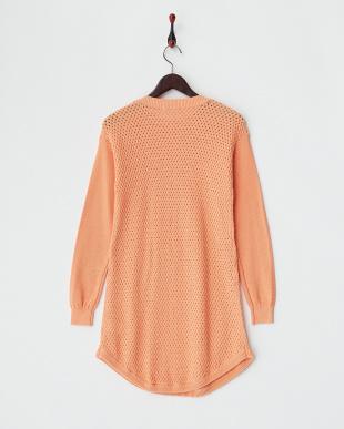 キャンディオレンジ  バスケット編みプルオーバー見る
