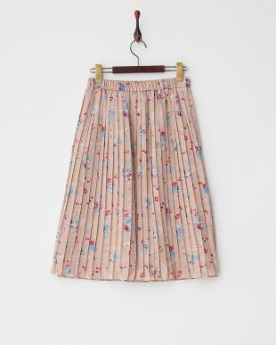 PINK BEIGE  プリーツスカート見る