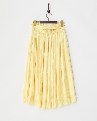 YELLOW  シフォンラメスカート見る
