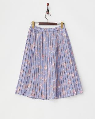 SAX  フラワー柄プリーツスカート見る