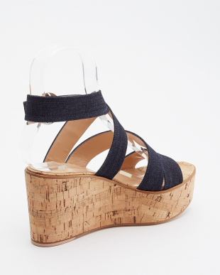 NAVY DENIM CORK WEDGE ARCH 45見る